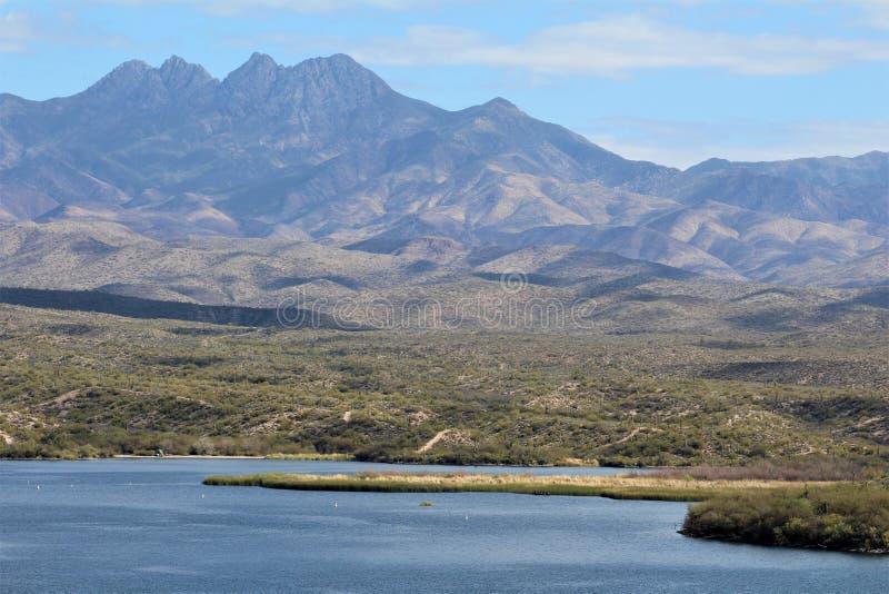 Пляж Аризона Джонса мясника, национальный лес Tonto стоковое фото rf