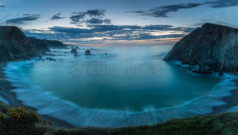 Пляж безмолвия стоковое фото rf