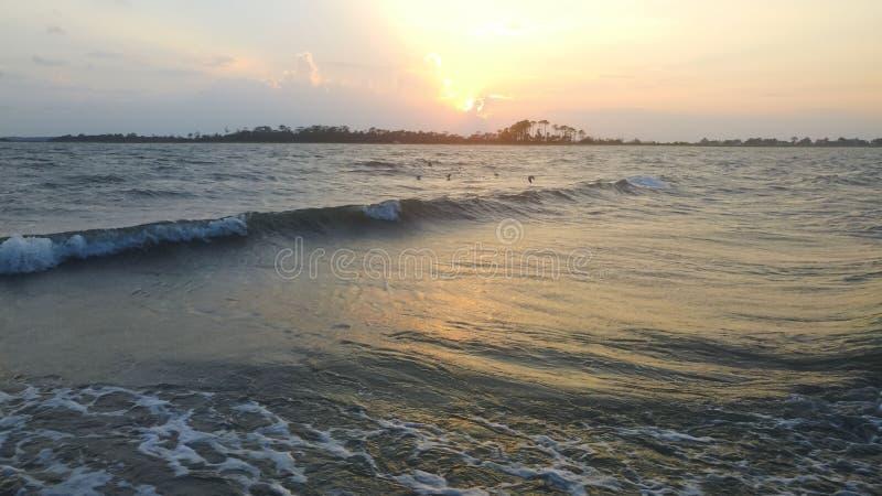 Пляж, взгляд ландшафта океана стоковое изображение