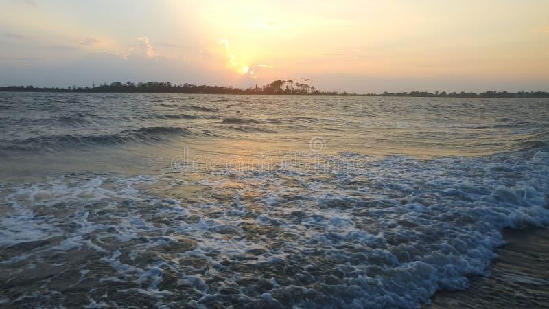 Пляж, взгляд ландшафта океана стоковая фотография rf