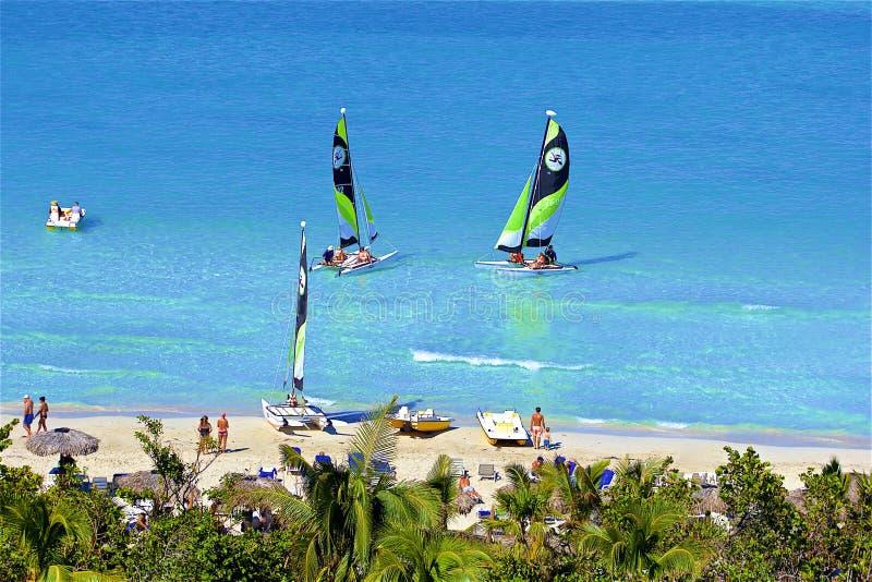 Пляж в Варадеро, Кубе стоковое фото