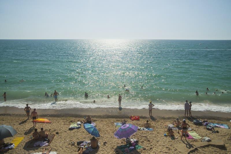 Beach in Nikolaevka. Crimea. royalty free stock photo