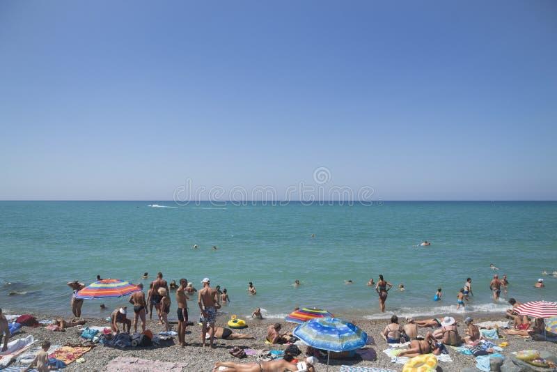 Beach in Nikolaevka. royalty free stock photos