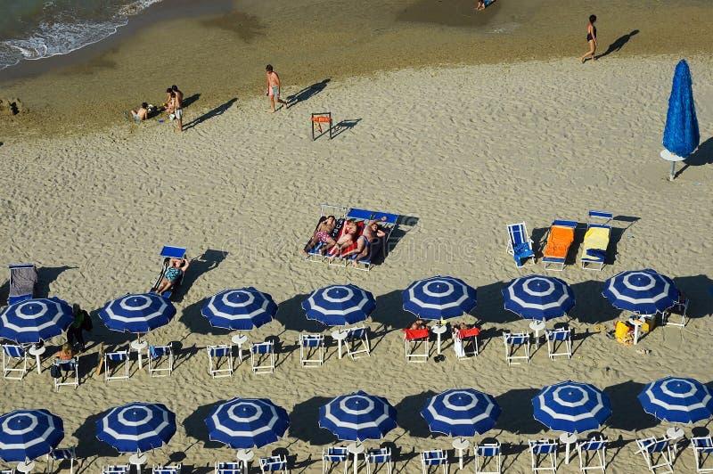 Пляж в области Абруццо, Италия стоковая фотография rf