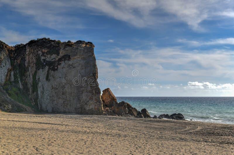 Пляж государства Dume пункта - Malibu, Калифорния стоковое изображение rf