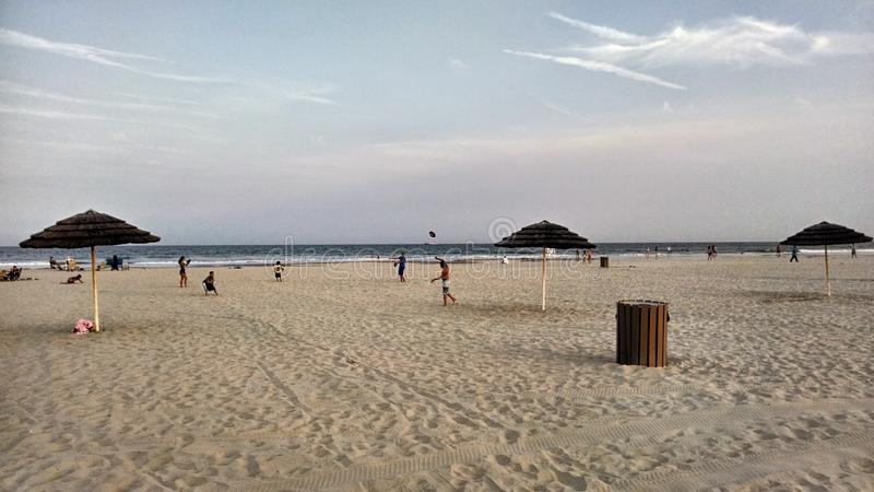 Пляж диаманта гребня Wildwood на сумраке стоковое изображение