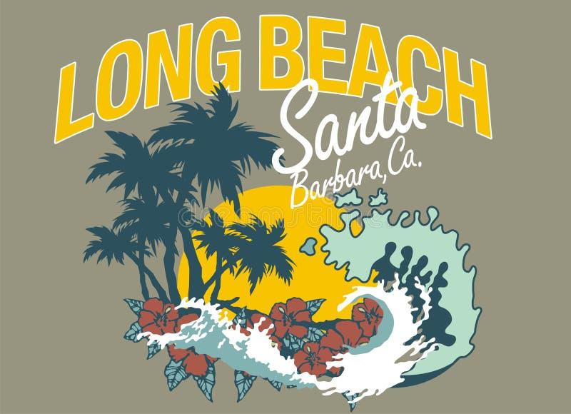 пляж длиной иллюстрация вектора