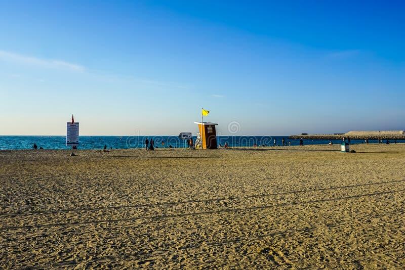 Пляж Дубай Jumeirah общественный стоковое изображение rf