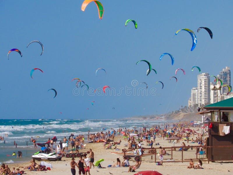 Пляж Израиля стоковая фотография