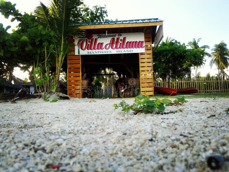 Пляж и курорт Atilana виллы стоковые изображения rf