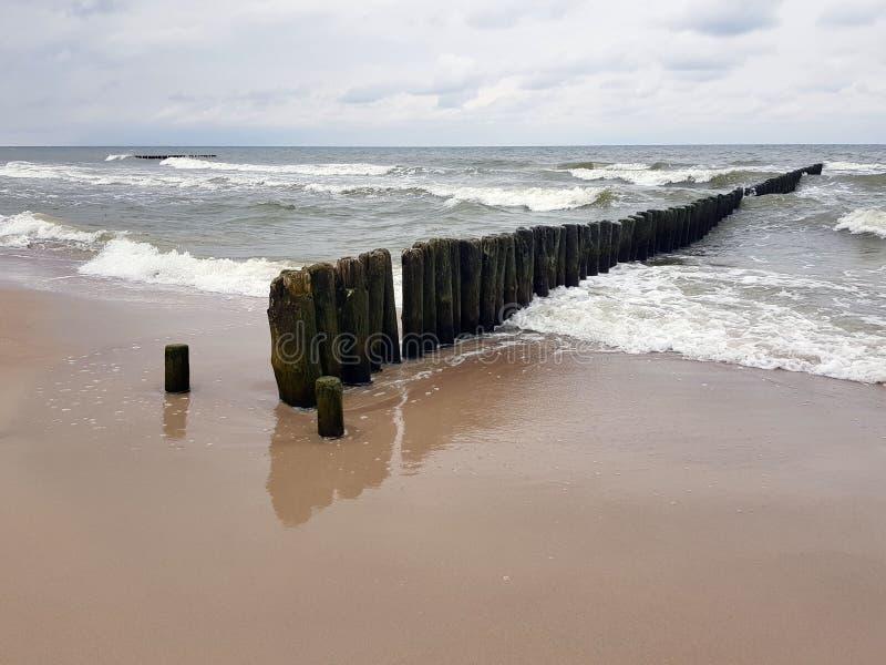 Пляж и море в Польше стоковые изображения rf