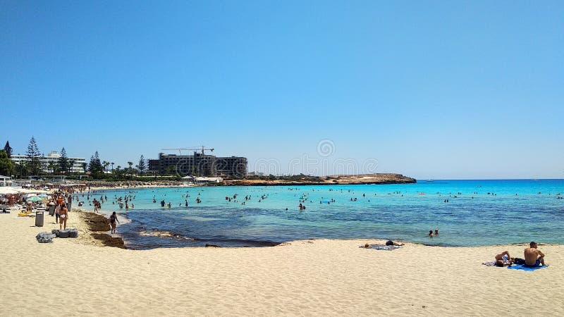 Пляж Кипра Nissi стоковые фото