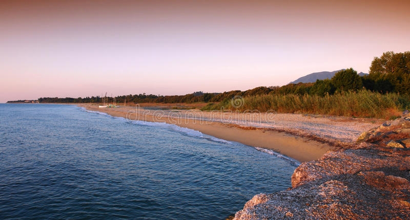 пляж Корсика стоковое фото rf