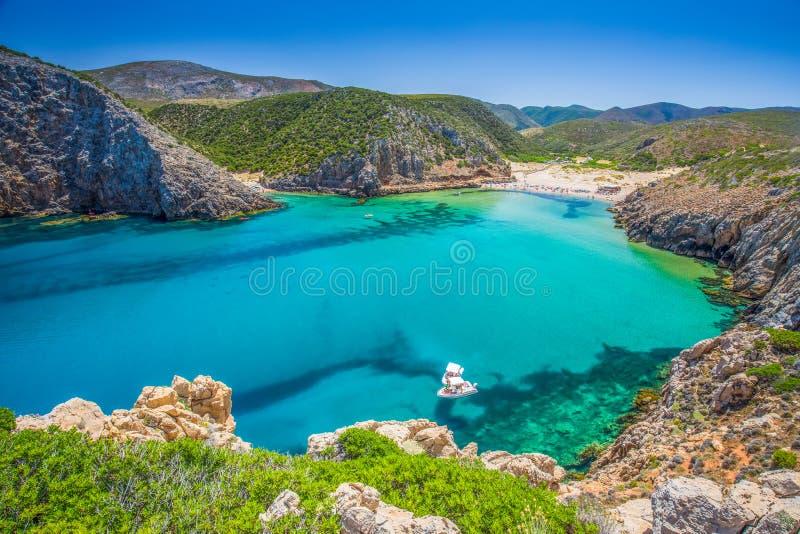 Пляж, Коста Verde, Сардиния, Италия стоковое изображение rf
