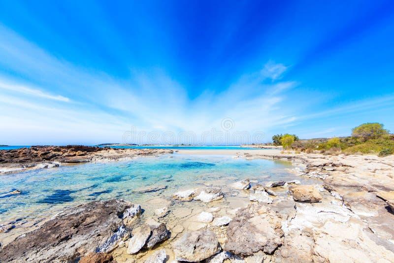 Пляж мечты Elafonisi стоковое фото