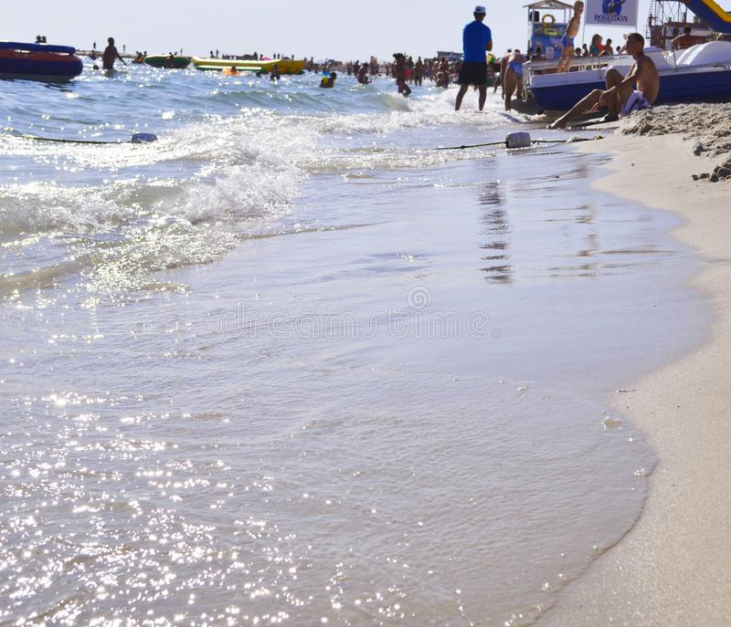 Пляж моря летом стоковое изображение rf