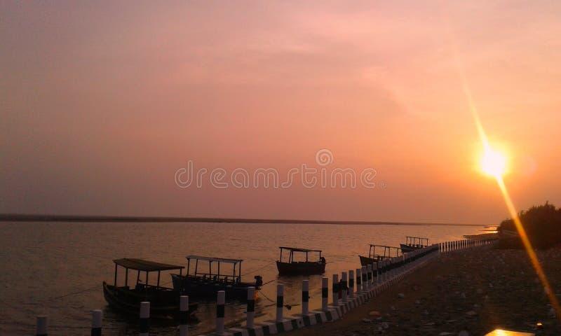 Пляж моря Konark в odisha стоковая фотография