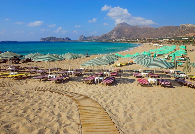 Пляж на острове Креты, Греции стоковые изображения