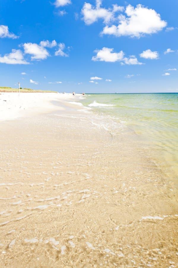 Пляж на полуострове Hel Стоковые Фото