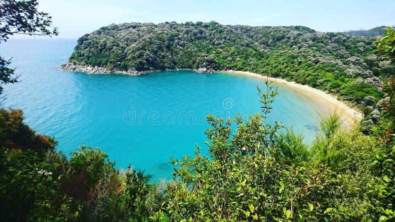 Пляж Новая Зеландия Tahuna стоковые фото