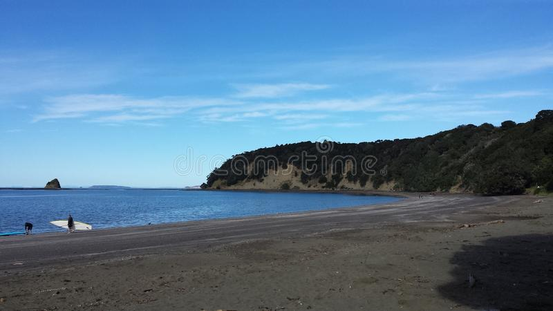 Пляж Новой Зеландии стоковые фотографии rf