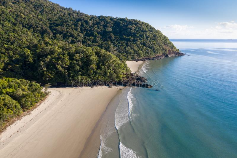 Пляж Ноя - Daintree значительно северный Квинсленд Австралия стоковая фотография