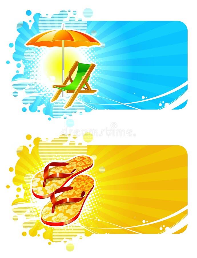 пляж обрамляет курорты иллюстрация вектора
