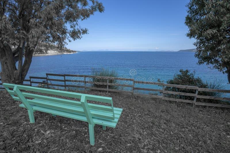 Пляж олимпии на острове Греции Kefalonia стоковые изображения