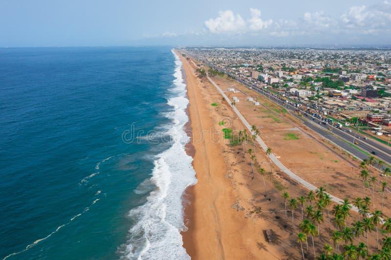 Пляж от глаза ястреба стоковое фото