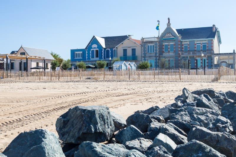 Пляж песка в Франции стоковая фотография
