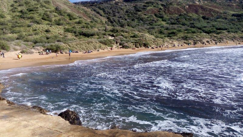 Пляж побережья Средиземного моря стоковые фото