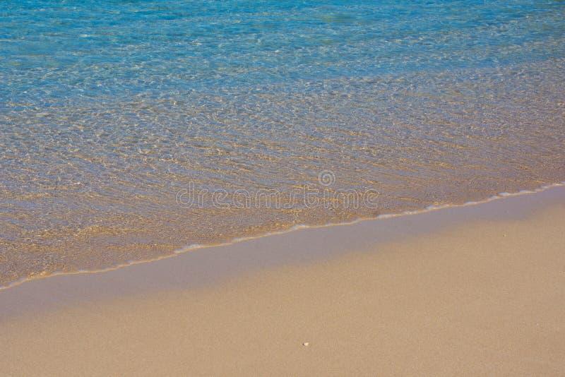Пляж предпосылки для верхнего слоя текста стоковая фотография rf