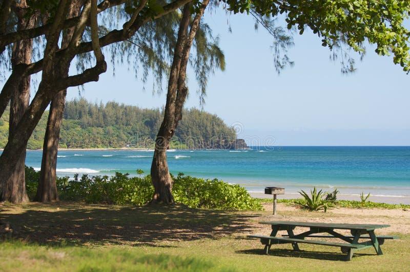 пляж приглашая около парка тропического стоковая фотография