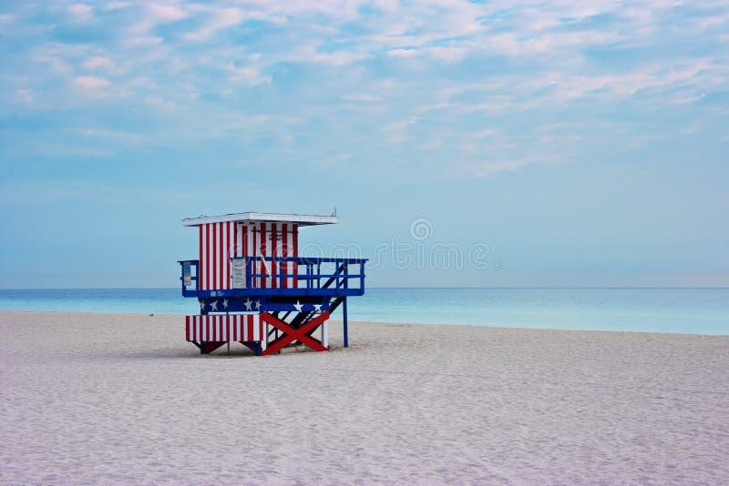 пляж пустой florida miami США стоковое изображение