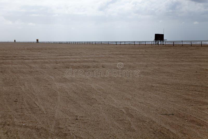 Пляж пустыни на вилле Gesell стоковая фотография rf