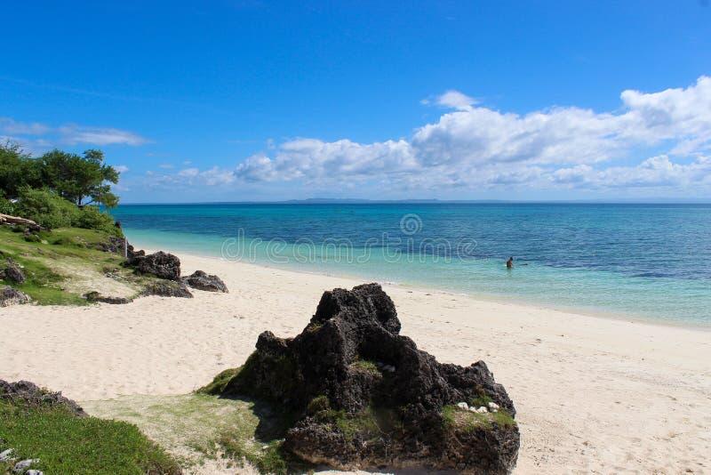 Пляж рая, остров Bantayan, Cebu, Филиппины стоковое изображение