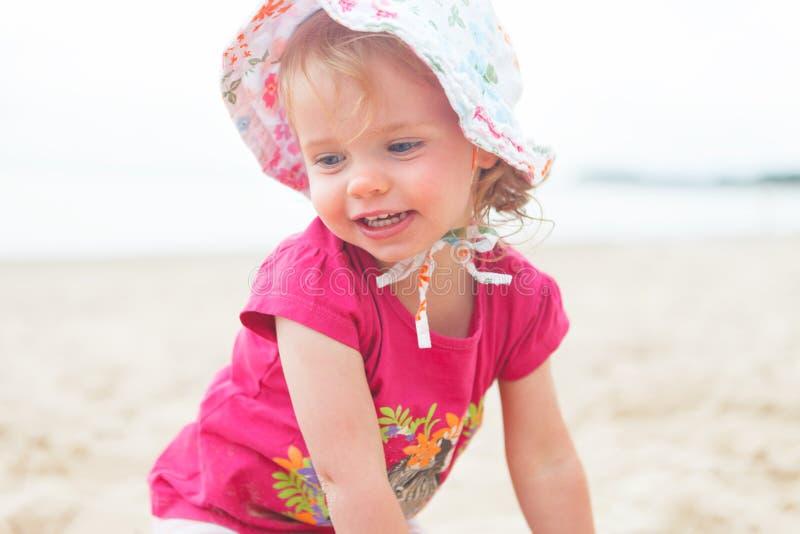 Пляж ребёнка стоковая фотография rf