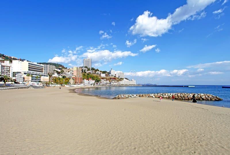 Пляж Солнця, Atami в Японии стоковые изображения