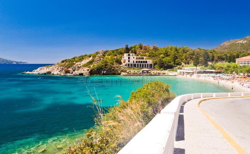 пляж среднеземноморской стоковое фото rf