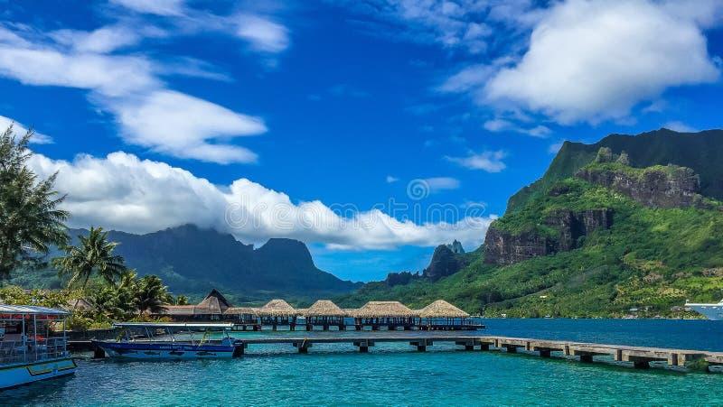 Пляж Таити стоковая фотография rf