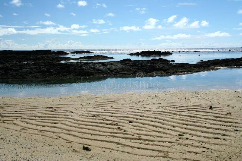пляж Тихий океан Самоа алебастра южный стоковые изображения