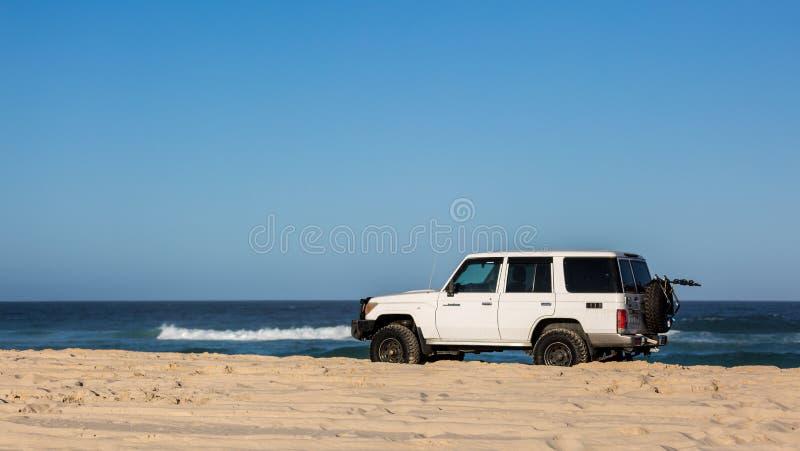 Пляж управляя 4x4 стоковая фотография