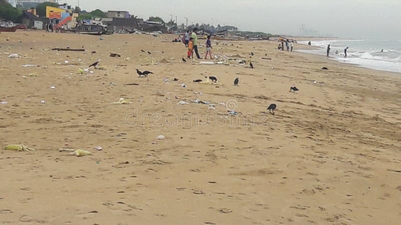 Пляж Ченнаи стоковая фотография