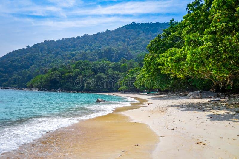 Пляж черепахи, острова Perhentian, Terengganu, Малайзия стоковая фотография rf