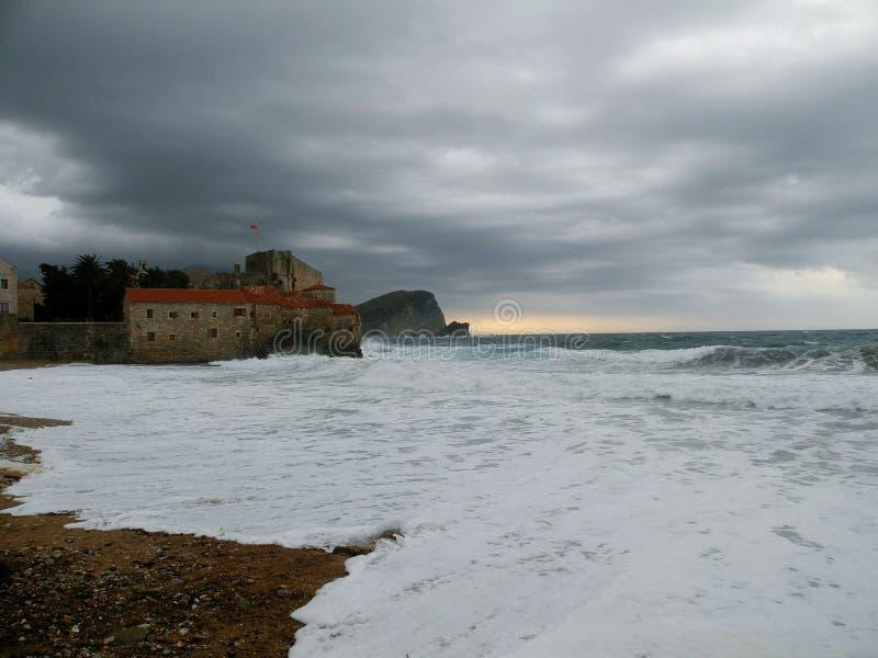Пляж Черногория стоковые фото