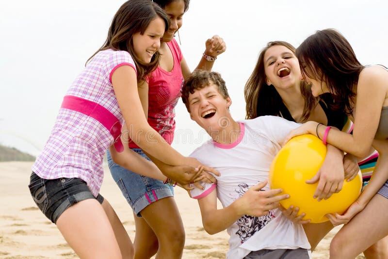 пляж шарика стоковая фотография