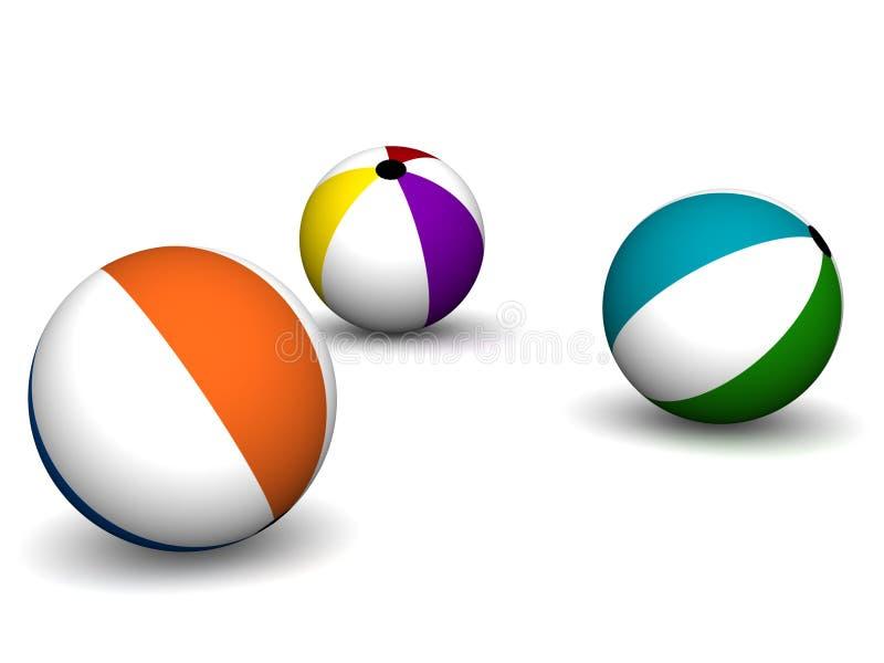 пляж шариков иллюстрация штока
