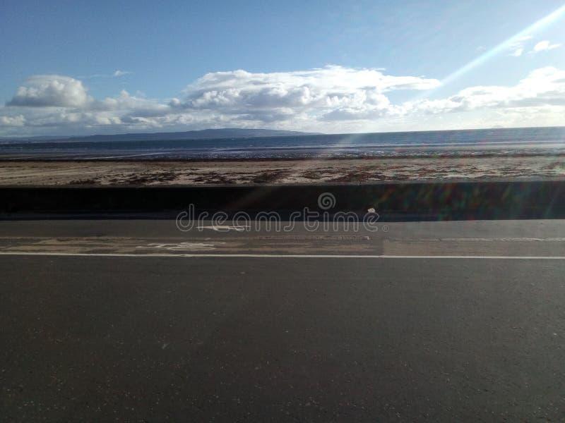 Пляж Шотландия Труна стоковое фото rf