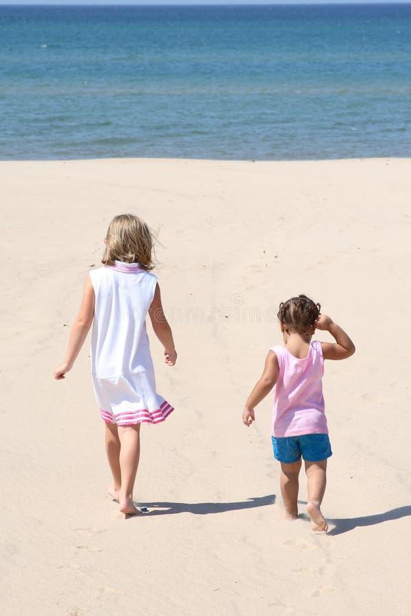 пляж ягнится 2 гуляя стоковая фотография rf