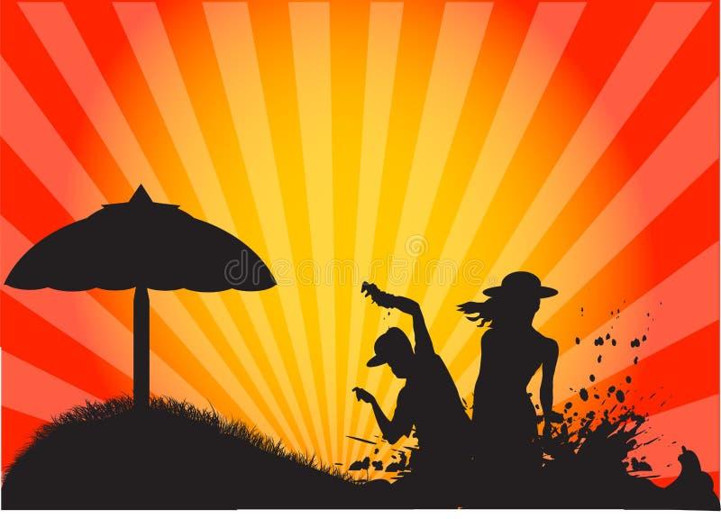 пляж бесплатная иллюстрация